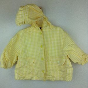 🛍3/$10 Mix Yellow Gingham Baby Jacket 9M Hooded